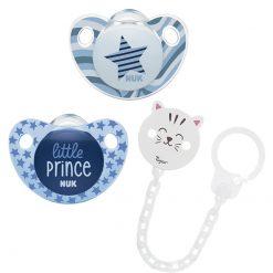Sucettes - Etoile & Little Prince et attache sucette chat Tigex