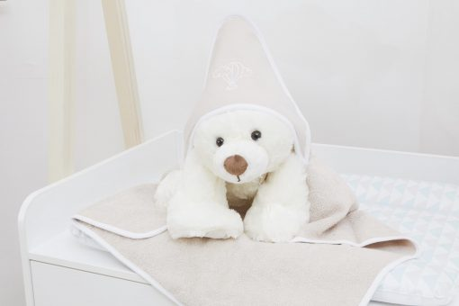 Cape de bain Noisette sur Doudou Premiers Moments
