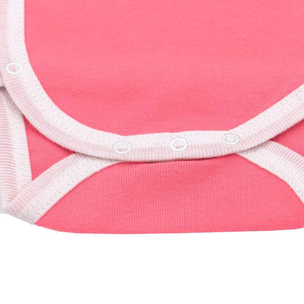 Body manches courtes Corail Boutons Pression
