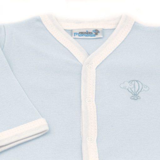 Pyjama leger Azur detail