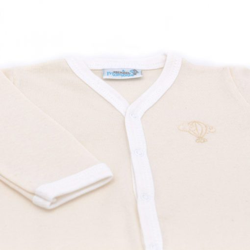 Pyjama leger Creme bras detail