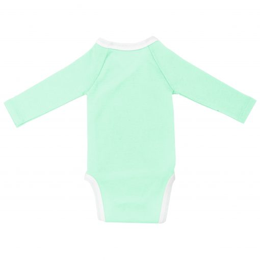 Body manches longues Menthe dos fond blanc