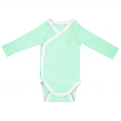 Body manches longues Menthe face fond blanc