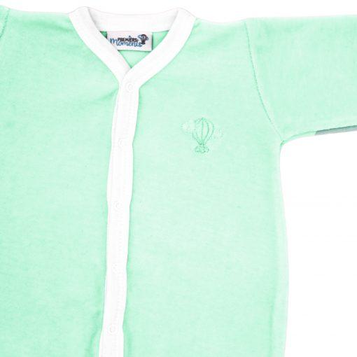 Pyjama velours Menthe détail 1