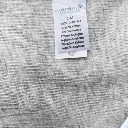 Body Perle gris chiné manches longues détail 4
