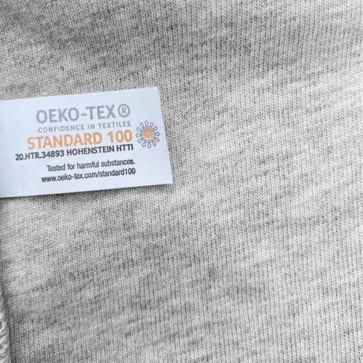 Body Perle gris chiné manches longues Oeko Tex