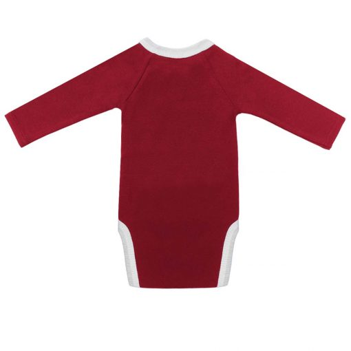 Body cerise manches longues dos
