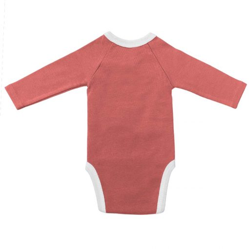 Body framboise manches longues dos