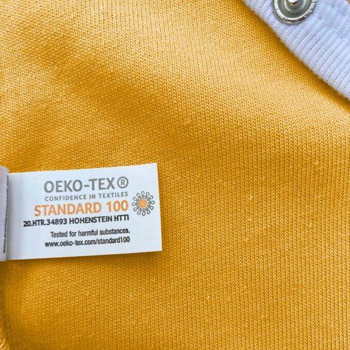 Body miel manches longue Oeko Tex