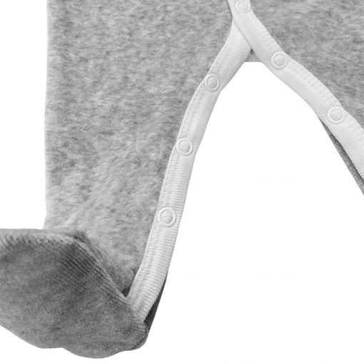 Pyjama Perle gris chiné velours détail 2