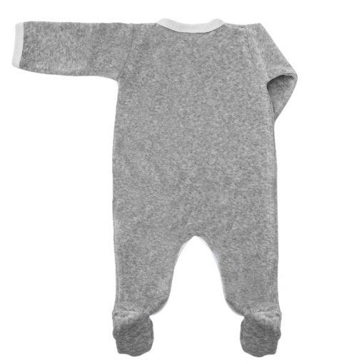Pyjama Perle gris chiné velours dos