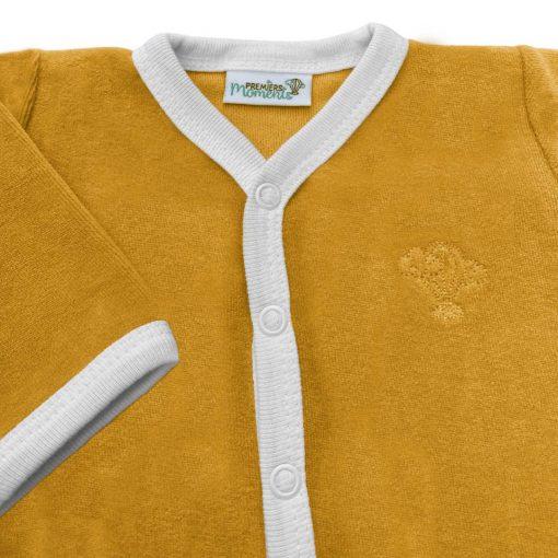 Pyjama miel velours détail 1