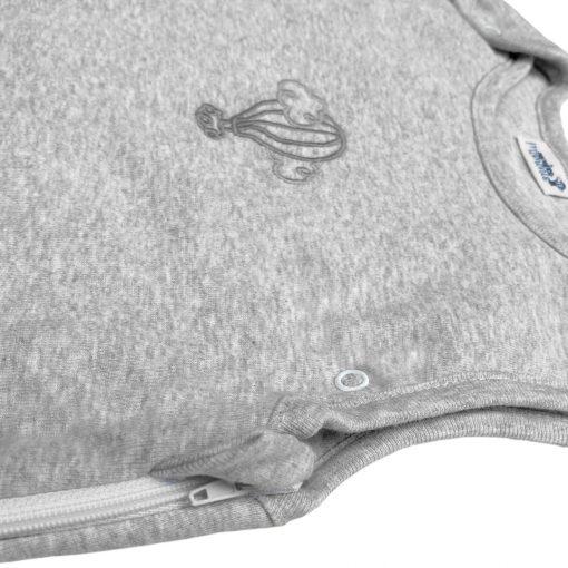 Gigoteuse mi-saison évolutive perle gris chiné détail 3